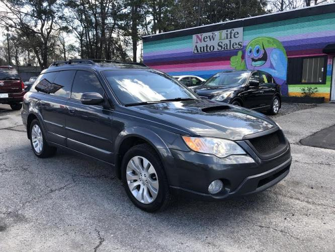 2008 BLACK SUBARU OUTBACK 2.5XT LIMITED (4S4BP63C484) with an 2.5L engine, Automatic transmission, located at 5103 Dorchester Rd., Charleston, SC, 29418-5607, (843) 767-1122, 36.245171, -115.228050 - Photo #0