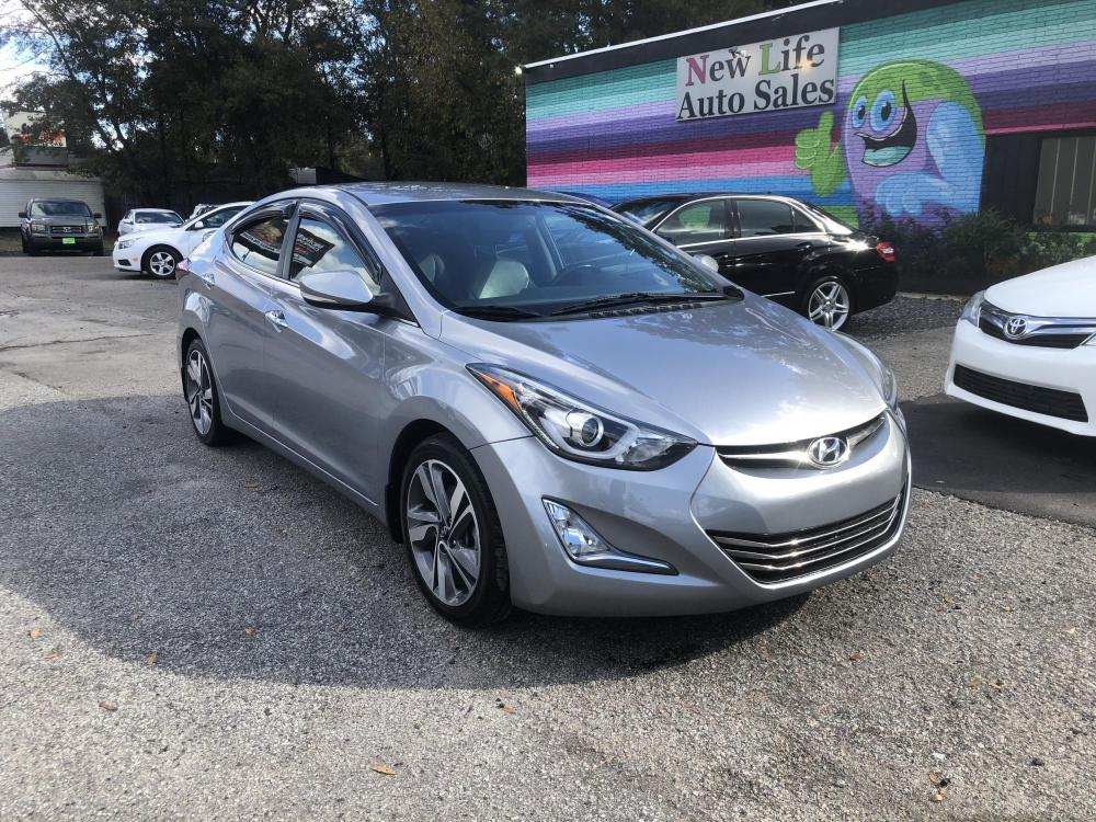 2015 SILVER HYUNDAI ELANTRA Limited (5NPDH4AE2FH) with an 1.8L engine, Automatic transmission, located at 5103 Dorchester Rd., Charleston, SC, 29418-5607, (843) 767-1122, 36.245171, -115.228050 - Photo #0