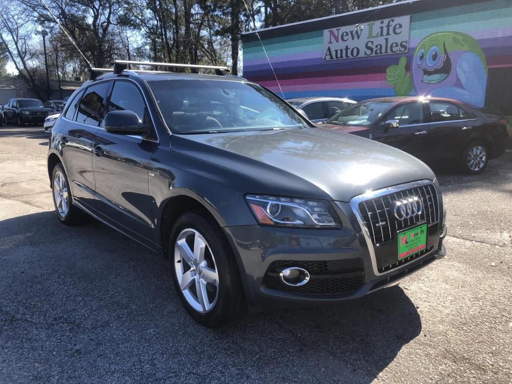 2011 GRAY AUDI Q5 PREMIUM PLUS (WA1DKAFP3BA) with an 3.2L engine, Automatic transmission, located at 5103 Dorchester Rd., Charleston, SC, 29418-5607, (843) 767-1122, 36.245171, -115.228050 - Photo #0